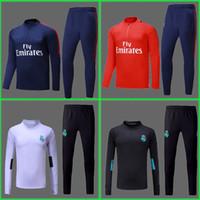 Wholesale Full Feet - survetement training suit chandal Camisa Maillot de foot NEYMAR JR MBAPPE Ronaldo Real madrid tracksuit sweater jogging suit set jersey