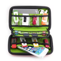 Wholesale hard drive storage cases - New Arrival Hard Drive Earphone Cables Usb Flash Drives Storage bags Travel Case Digital Cable Organizer famous brand designer bags