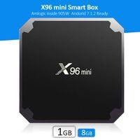 8-гигабитный медиаплеер оптовых-Amlogic S905W Android TV Box 7.1.2 готовый OS X96 mini Android Box 1 ГБ 8 ГБ потокового медиа-боксы телевизионный плеер лучше, чем mxq TV box