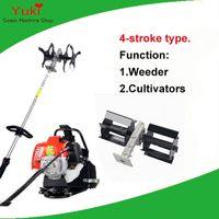 Wholesale Garden Mowers - Popular 4 stroke power weeder machine+diesel cultivator gasoline maize weeding machine mini garden farm cultivator tiller