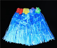 Wholesale Popular Tassel Child Girl Princess Flower Hula Grass Skirt Fancy Costuhow me Show SkirtHula grass skirts Hawaiian skirt