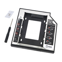 Wholesale sata laptop hd online - Universal quot Aluminum SATA Second nd Plastic SSD HDD HD Hard Disk Driver Caddy mm External Case Optical Bay for Laptop
