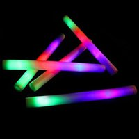 Wholesale Glow Batons - glow stick Multicolor LED Flashing Light Effect Sticks Color Changing Foam Baton Strobe for Party Festivals Raves Birthdays ChildrenToy