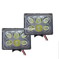 Wholesale led headlights for trucks - 3 Inch 18W LED Work Light 6 LED Beads Headlight Spot Lights 12V-80V Fog Lamp for Engineering Vehicle Truck SUV Car Styling
