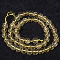Wholesale Crystal Beads Crafts - Natural Citrines Beads 6 8 10mm Round Yellow Crystal Quartz Stone Loose Beads For DIY Jewelry Bracelet Findings Craft Making