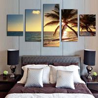 Wholesale High End Oil Painting - Micro spray high-end art home sitting room porch coconut oil painting immovable beach restaurant