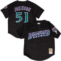Wholesale Men s Arizona Diamondbacks Randy Johnson Mitchell Ness Black Fashion Cooperstown Collection Mesh Batting Practice Jersey