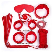 Wholesale Leather Sex Suits - Spice Up 7 Pieces of Interest Suits Seven Sets Thickening SM Plush Leather Adult Toys Bound Bondage Women&men Sex Products Stimulating Bind
