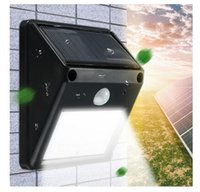 Wholesale White Color Fence - 12 LED Solar Powered PIR Motion Sensor Light Outdoor Garden Fence Patio Security Wall Light Lamp Night Light (Color: White)