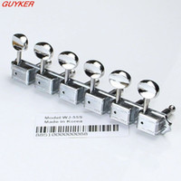 Wholesale Deluxe Machine Heads - 1set Deluxe WJ55S 6 In line Machine Heads   Tuners Chrome New Guitar parts