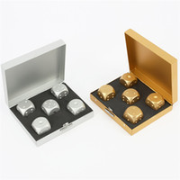 Wholesale Wholesale Crap - 5 Pack Alloy Dice Craps + Gold   Silver Aluminum Portable Box Poker Board KTV Game Free shipping