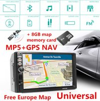 Wholesale Canada Car Stereo - 7'' Touch Screen HD 1080P In-dash Car GPS Navigation Bluetooth Stereo MP5 Player + 8G Memory Card Free Europe Map