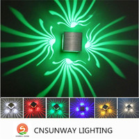 Wholesale Abstract Lamp - 100% Aluminum Original Cubic 4 direction Led Wall Lamp For Home Decoration Lighting RGB Colour With Modern abstract Style Lamps KTV BAR