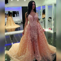Wholesale Scalloped Sweetheart Tulle Ball Gown - Champagne 2016 Ball Gown Cap Sleeves Tulle Flowers Lace Sexy Long Women Prom Dresses Prom Gown Evening Dresses Evening Gown