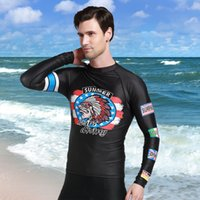 Rash Guards for Men Immersioni Surf Muta Estate Camicie a maniche lunghe Camicie da mare Protezione rapida Protezione UV