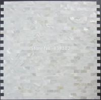 Wholesale Pearl Shell Tiles - Shell mosaic mother of pearl tile backsplash brick sea shell tiles white mother of pearl tiles bathroom mosaic tile