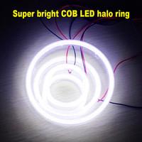 Wholesale Universal Halo Lights - 2X Waterproof 12V Xenon White Car Angel Eye COB Light Halo Circle Ring Head light Lamp for Car & Motorcycle