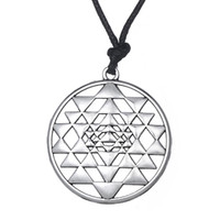 Wholesale Eye Necklace Pendant - Portugal Mandala CHAKRA 3rd Eye Hindu Goddess Yoga Sri Yantra Pagan Punk MenProsperity Talisman Wealth & Good Luck Rope Necklace
