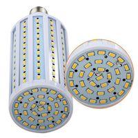 Wholesale E27 Corn Down - DHL Ultra bright Led Corn light E27 E14 B22 SMD 5630 5730 85-265V 50W 80W 8000LM LED bulb down Lighting Lamp