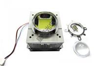 Wholesale Heatsink For Power Led - Wholesale- 1pcs LED CPU Fan Heatsink+44mm Optical len+Reflector+Fixed Bracket+Fan Power Supply For 20w~ 50w LED Grow Bulb Light Cooling