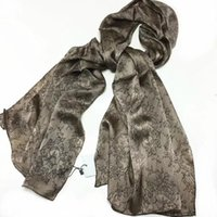 Wholesale Purple Lace Material - New brand silk scarves 170CM*60CM 100% silk material print lace letters pattern hand hemming long scarf for women