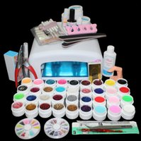 Wholesale Gelled Lamp Kit - Tools Sets Kits BTT-111 hot sell 36colors uv gel lamp tool , tools set kit ,kit nail gel set