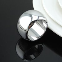 Wholesale silver napkin holders online - silver napkin ring napkin buckle napkin holder for hotel dining table and wedding party decoration