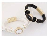 Wholesale Agate Products Wholesale - New products Bohemia style Girl leather bracelet 4color fashion high-grade gemstone leather bracelet