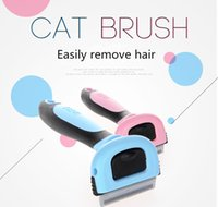 Wholesale Trimmer Cleaner - Pet Dog Cleaning Comb Hair Removal Brush Grooming Tool for Cat Easy Brush Detachable Hair Shedding Trimming
