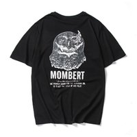 Wholesale Owl Tees - 2017good quality gd t-shirt summer style men tshirt with funny print men's tshirt homme cotton cartoon OWL T-shirt mens brand tee EXO