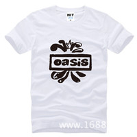 Wholesale Rock Band Tops - 2017 new fashion Oasis band rock Printed Men's T-Shirt Fashion Cotton T Shirt For Men Short Sleeve O Neck Casual Top Tee