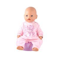 Wholesale Zapf Dolls - New Cheap Factory Price 43cm Baby Born Zapf Doll Clothes Pink Long Sleeves Soft Jumpsuit Doll Accessories Children Best Gift
