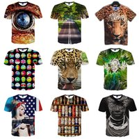 Wholesale Cheap Designer Shirts Men - new 3D printing t shirts for men Fashion Short Sleeve Cotton blends polo shirt man hip hop Designer summer mens shirts plus size cheap