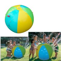 Wholesale Playing Balls - Inflatable Beach Water Ball Outdoor Sprinkler Summer Inflatable Water Spray Balloon Outdoors Play In The Water Beach Ball Toys 3010003