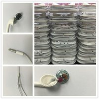 Wholesale Earphone Mic Pack - 3.5mm Headphones In-Ear Earphone with Mic and Volume Control Stereo Headset for phone6 5 mobile with packing