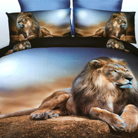 Wholesale Cartoon Animal Pillowcases - (4 pics)Bedding Sets include Bed sheet,quilt cover,pillowcase ,offering Fashion Hotel  Home Washed Cotton Bedding Set with Comforter