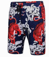 Wholesale Tiger Design Clothes - Italy Design Tiger Print Men Beach Shorts Brand Quick Drying Short Pants Casual Clothing Homme Outwear Shorts XXXL