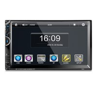 Wholesale Double Din Car Radio Rds - 7'' Double Two Din Car DVD MP5 Player Stereo Audio Multimedia Rearview Camera Bluetooth HandsFree RDS