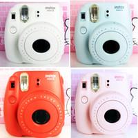 Wholesale Fuji Polaroid Camera - Wholesale- free shipping Fuji mini8 suite a Polaroid camera self timer lomo Polaroid film camera imaging