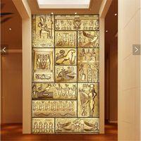 pintura arte 3d venda por atacado-Atacado-papel de parede 3d arte mural HD beleza da cultura egípcia antiga que cobre Home Decor Modern Wall Painting Para Sala de estar papel de parede