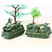 Wholesale Toy Car Bulk - Double gun armoured vehicles Children's bulk, toy world war ii military static model scene equipment