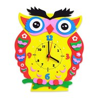 All'ingrosso bambini animale di DIY bambini Forma Learning Clock Puzzle Arts Crafts Kit Baby Toys