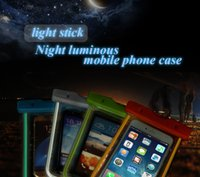 Wholesale Silicone Strap For Iphone - Luminous Waterproof Mobile Phone Bags with Strap Dry Pouch Cases Cover for Samsung Galaxy S7 for iPhone 6 5S 6S Plus Coque Case