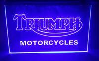 неоновые вывески для мотоциклов оптовых-tr04 Triumph мотоциклы Услуги Ремонт пивной бар паб клуб 3d знаки led неоновый свет знак домашнего декора ремесла