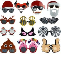 Halloween Dress Up Cosplay Divertente Dolcetto o scherzetto Occhiali PC Plastica Cartoon Compleanno Vacanze Accessori Occhiali Divertirsi