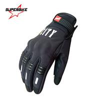 Wholesale Sport Bike Racing Gloves - Wholesale- Motorcycle Gloves Screen Touch Cycling Bike Men Summer Guantes de la motocicleta Glove Full Finger Luvas Motocross Racing Sports