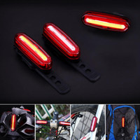 Wholesale Rechargeable Rear Bike Light - 2017 New Bicycle 120 LM Rechargeable COB LED USB Mountain Bike Tail Light Taillight MTB Safety Warning Bicycle Rear Light Bicycle Lamp