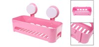 Wholesale Pink Wall Shelves - Detachable Plastic Bathroom Wall Sucker Suction Cups Storage Shelves Rack Pink