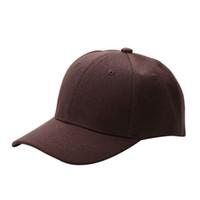 Wholesale Kid Flat Hats Wholesale - Wholesale- Unisex Hip-Hop Adjustable Bboy Baseball Cap Hat Fashion Blank Plain Snapback Hat Snapback Caps Kids Seball Cap Flat Along Hat