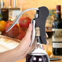 Wholesale Rabbit Cutter - Rabbit Lever Style Corkscrew Wine Bottle Opener with Foil Cutter Replacement Alloy Wine Bottle Opener OOA2430